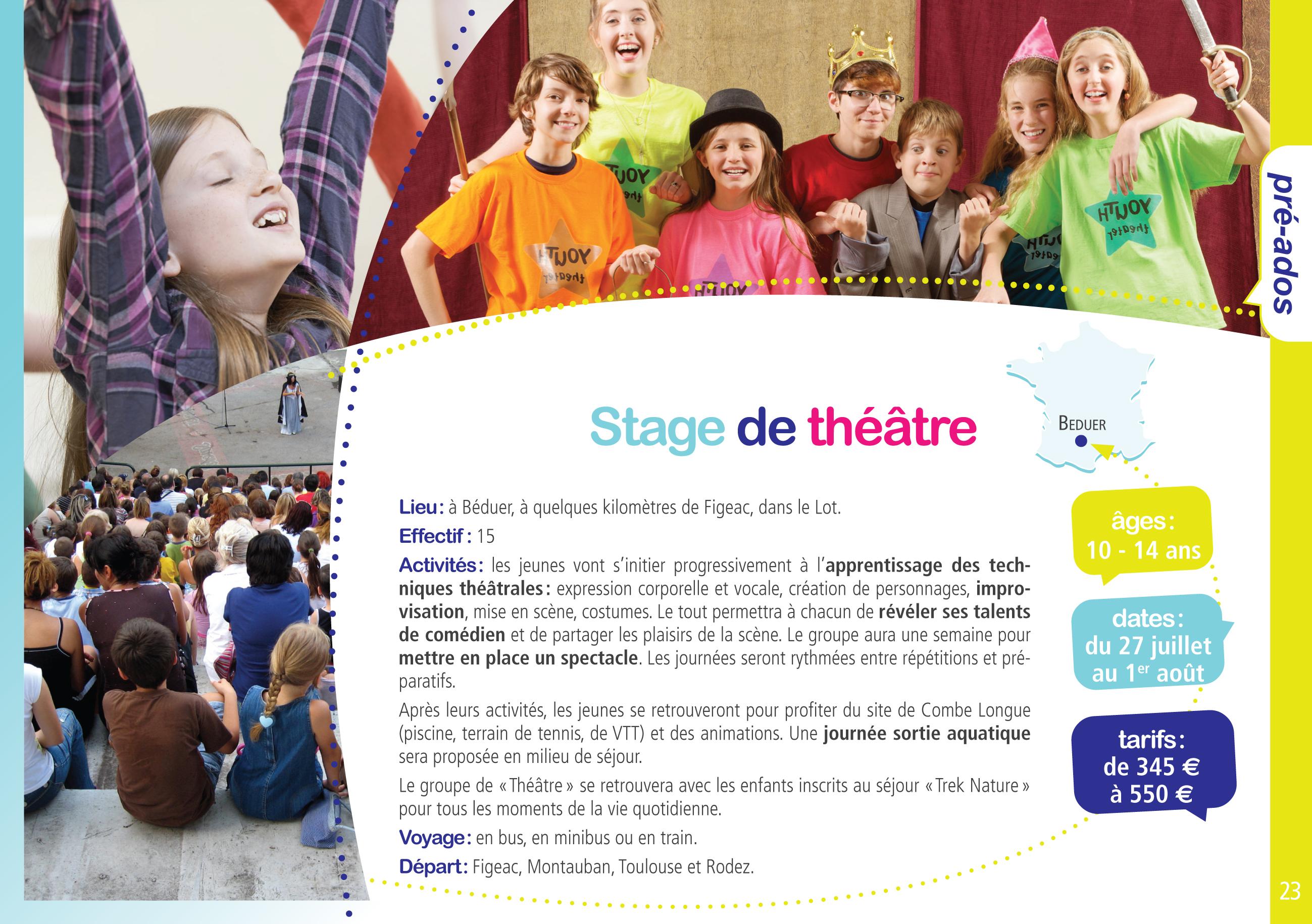 stage de theatre