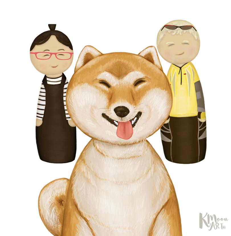 With Shiba Inu