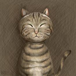 猫の肖像画