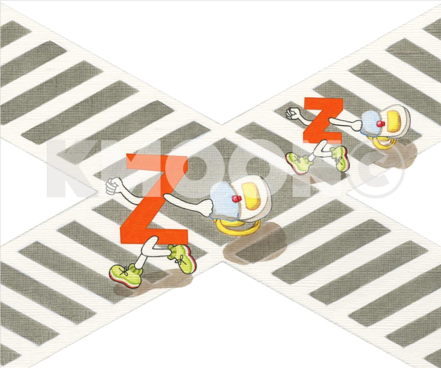 Zz is for ... zebra-crossing