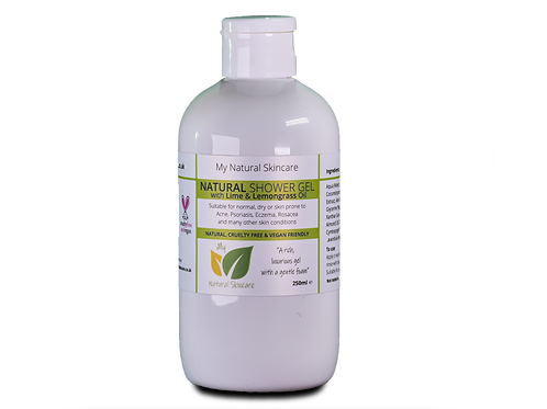 Natural Shower Gel - Lime & Lemongrass 250ml