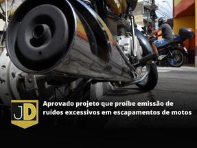 Aprovado projeto que proíbe emissão de ruídos excessivos em escapamentos de motos