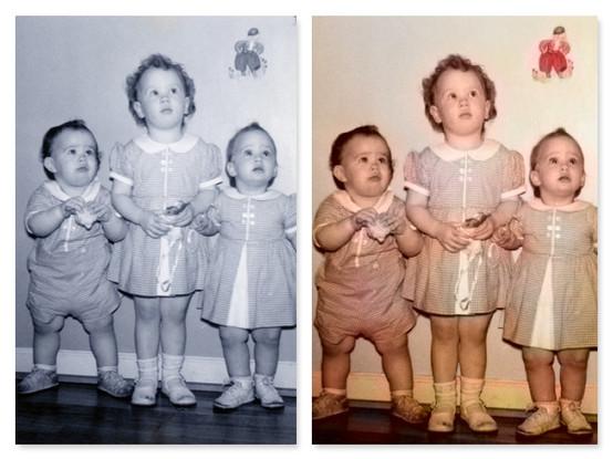 Colorization of black and white photo