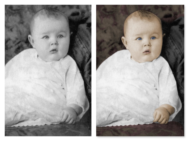 Colorization of black and white photo