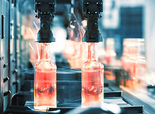 hot-glass-bottles-on-the-conveyor-P53DQC