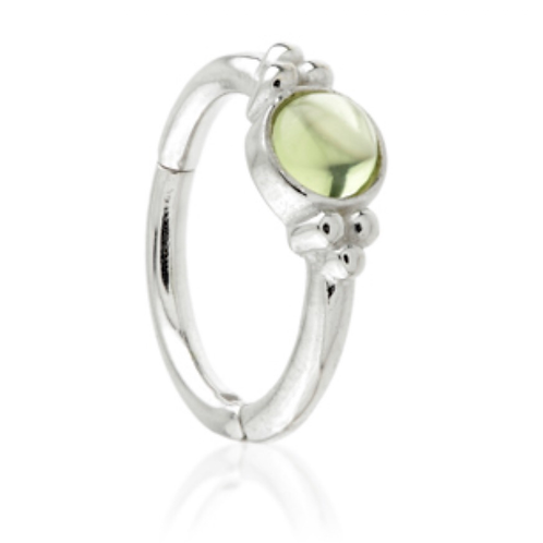 Peridot 14ct Gold Tri-Dot Ring