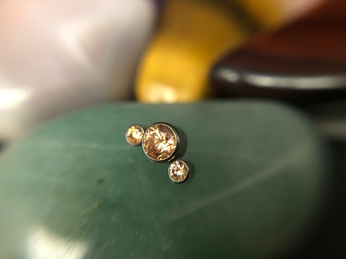 Champagne 3 Cz Cluster 16g End
