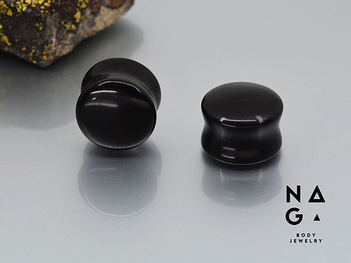 Naga Black Onyx stone plugs