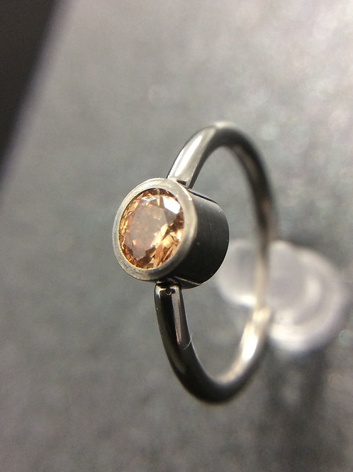 Champagne CZ Captive Ring