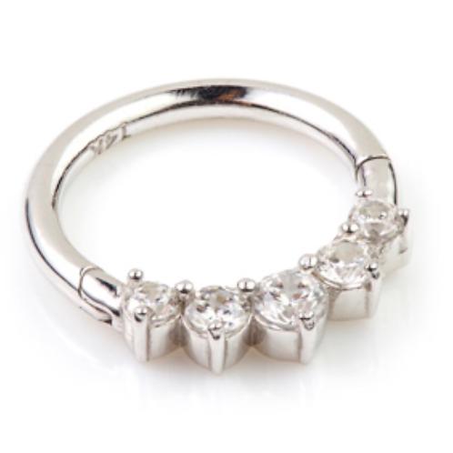 Diamond 14ct White Gold Front Facing Ring