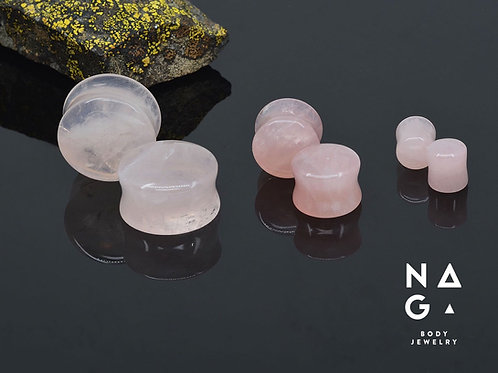 Naga Rose Quartz Plugs