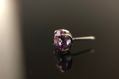 Fancy Purple Swarovski Prong Set End