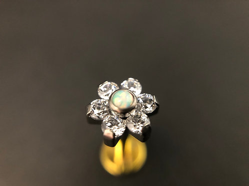 14g Opal Prong Set Flower End