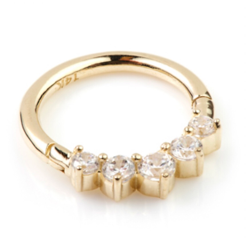 Diamond 14ct Yellow Gold Front Facing Ring