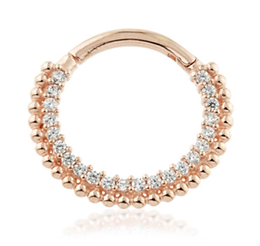 14ct Rose Gold Pavé Multi Jewelled
