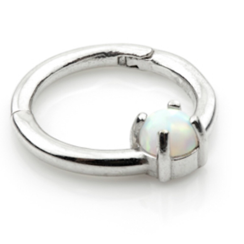 Claw Set Opal in 14ct Gold Ring