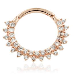 14ct Rose Gold Pavé Ring