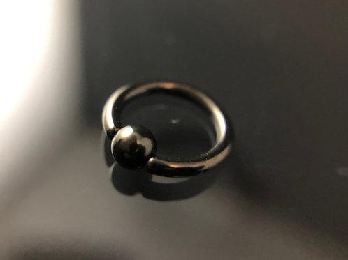 Pvd Black Ball closed Rings
