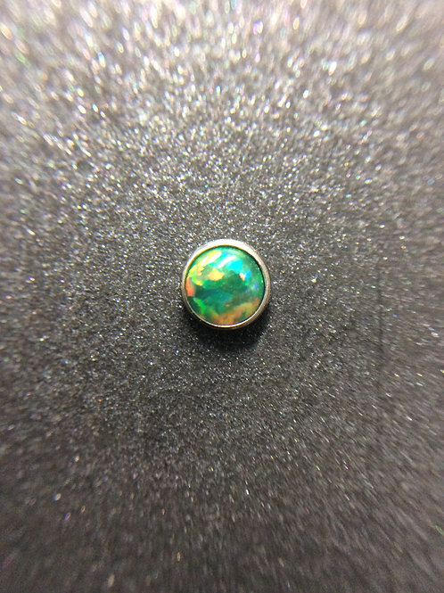 14g Olive Green Opal End