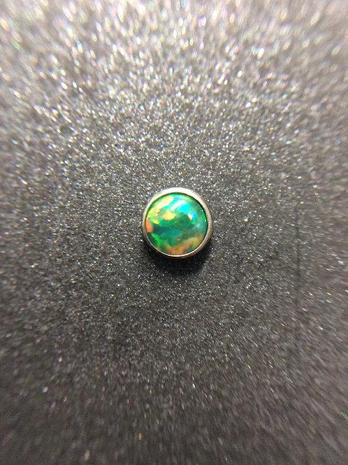 14g Olive Green Opal End