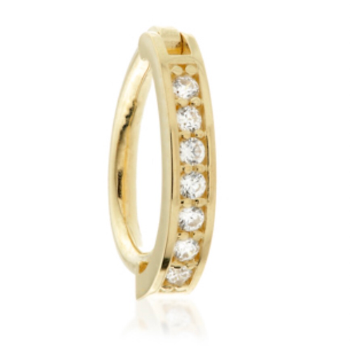 Oval Rook Ring - 14ct Gold Channeled Jewel
