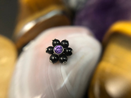 Onyx and Purple 16g Flower End