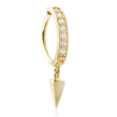 Rook Ring 14ct Gold CZ Pavé With Pendent