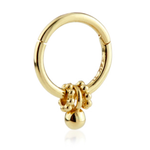 Loaded 14ct Gold tribal charm ring