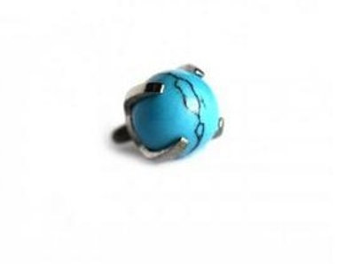 14g Turquoise Prong Set Bead End