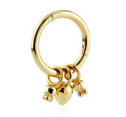 14ct Gold Hinged ring with Charms