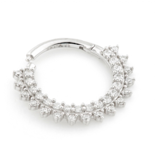 14ct White Gold Pavé Ring