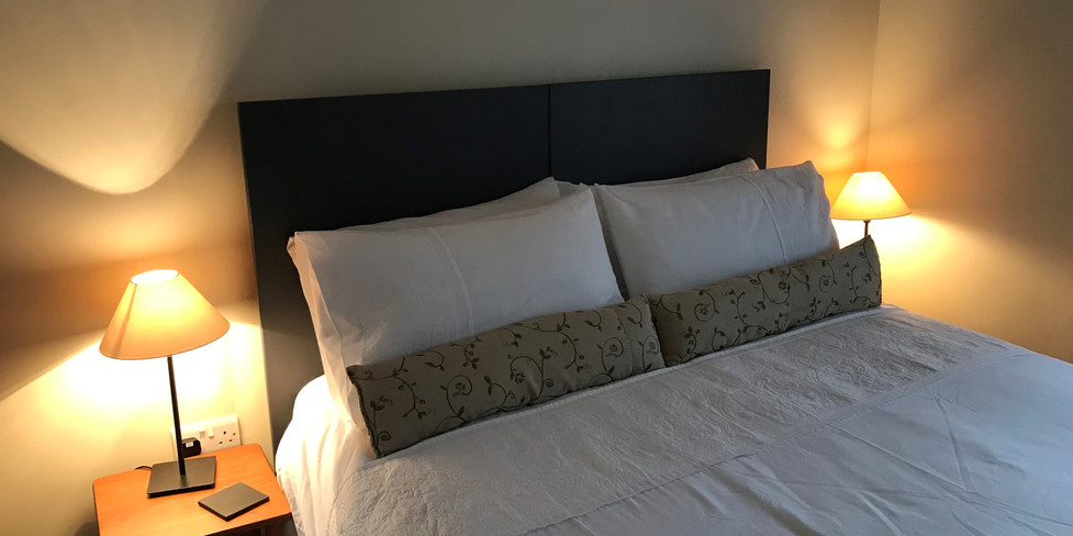 Corner Cottage: Twin beds joined
