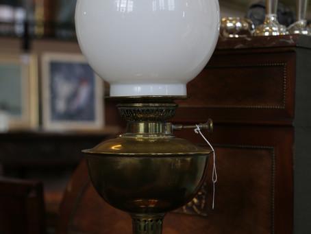 Brass Oil Lamp - £58
