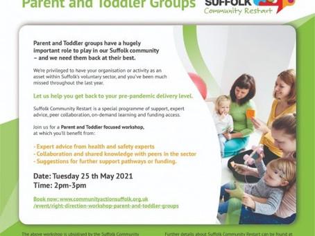 Restart Workshops: Parent and Toddler Groups