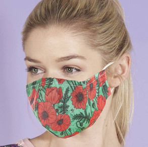 Poppy Print Face Mask