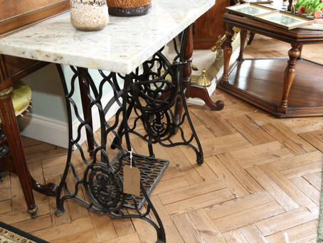 Marble Top Sewing Stand - SOLD