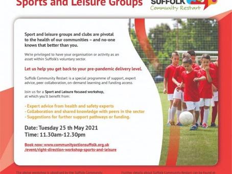 Restart Workshops: Sports and Leisure Groups