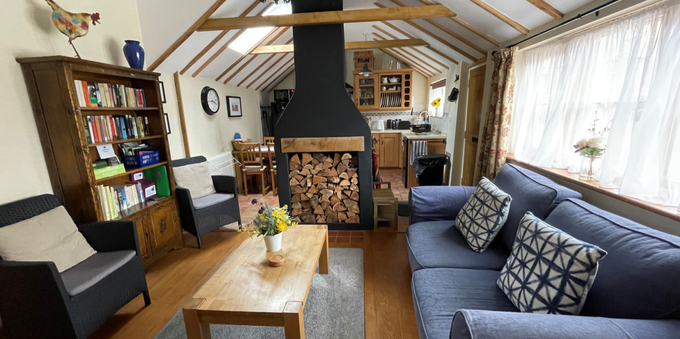 Corner Cottage: View through sitting room
