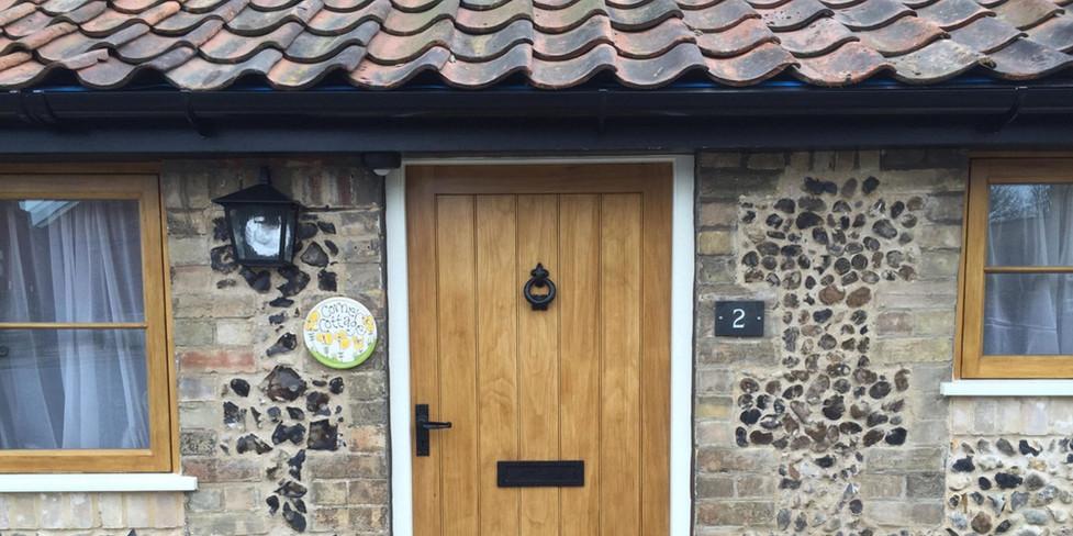 Corner Cottage: Front elevation