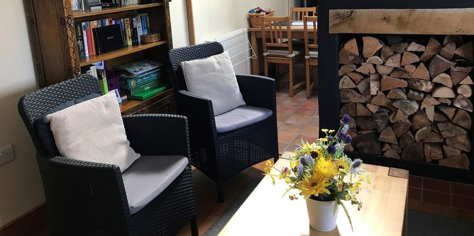 Corner Cottage: View through sitting room to kitchen
