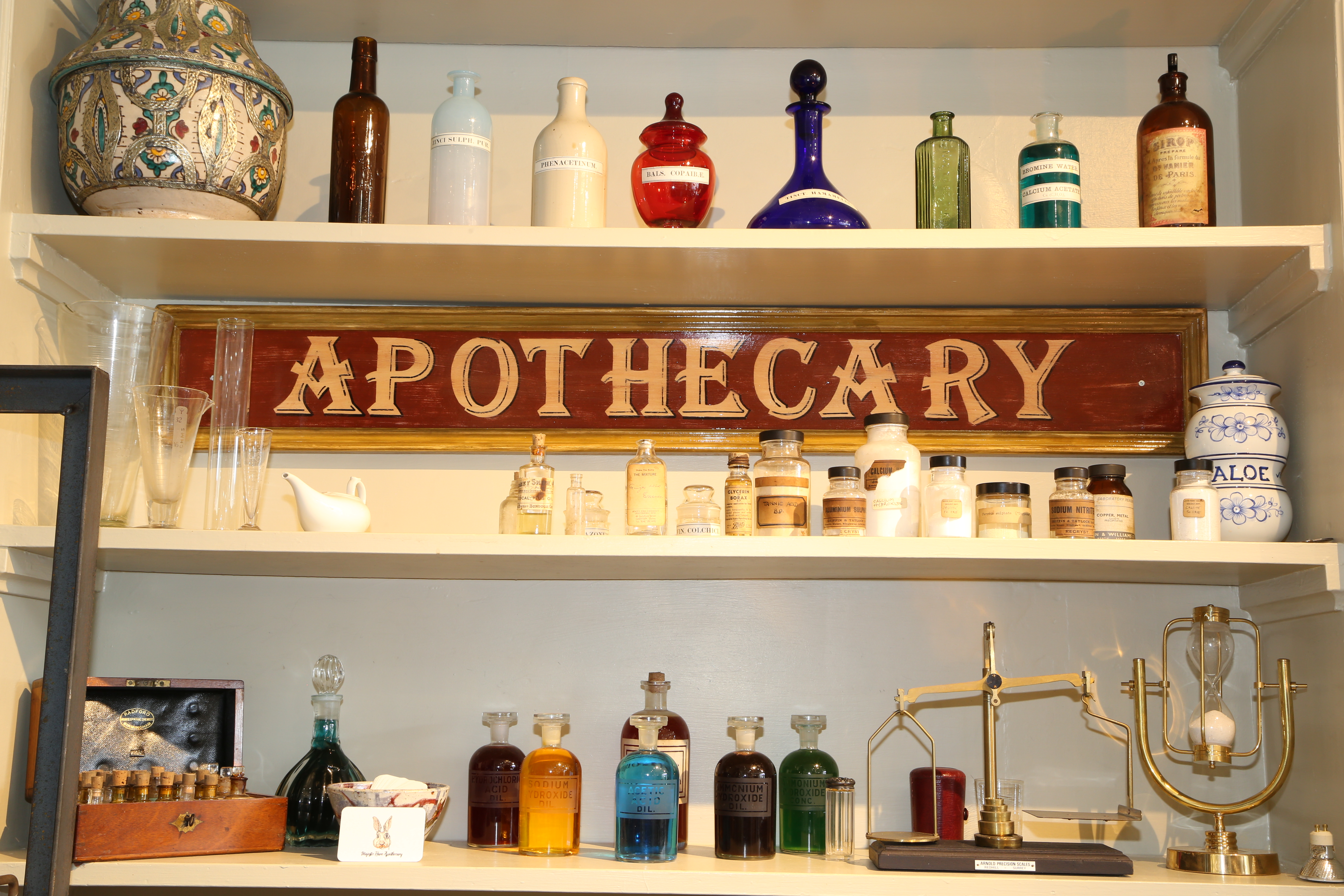 Majestic Hare Apothecary shelving