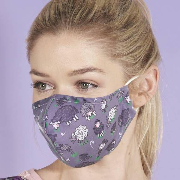 Sheep Print Face Mask