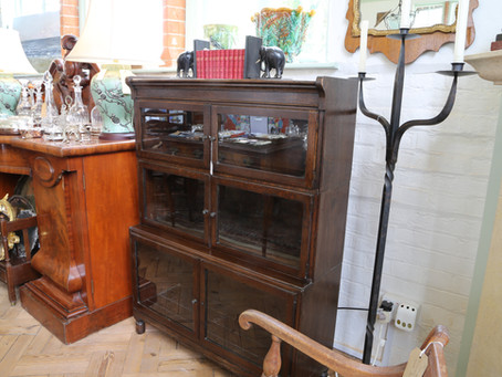 3 Tier Minty Oxford Oak Bookcase - £195