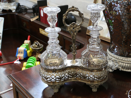 Two Decanters & Stand - £185