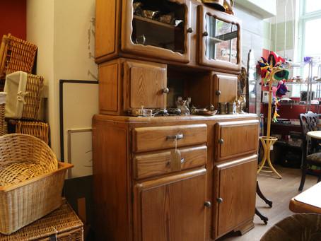 Art Deco Pine Cabinet - SOLD