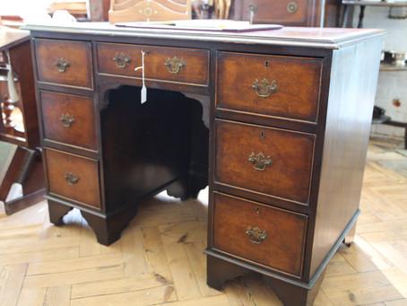 Antique Knee Hole Desk - £285