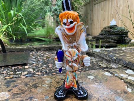Murano Coloured Glass Clown - £40