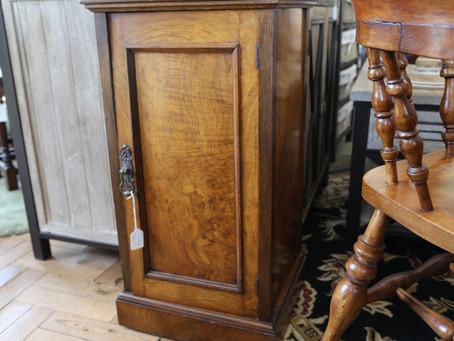 Burr Walnut Pot Cupboard - £85