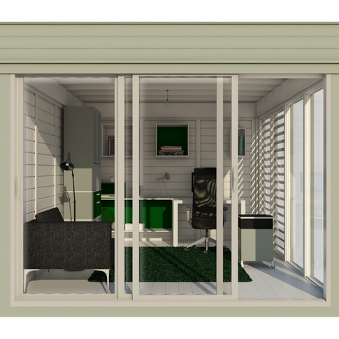 Garden Cube 3x4m Home Office