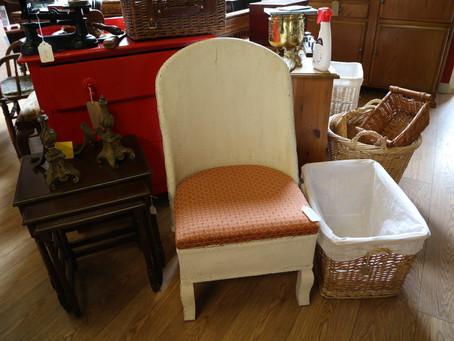 White Wicker Chair - £10